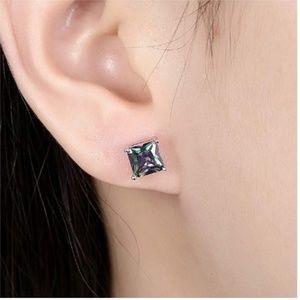 Multicolor Black Cubic Zirconia Earrings